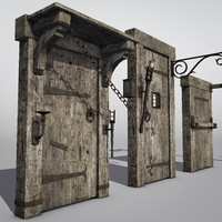 Low Poly Medieval Hardware Set