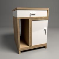 3ds max design nightstand