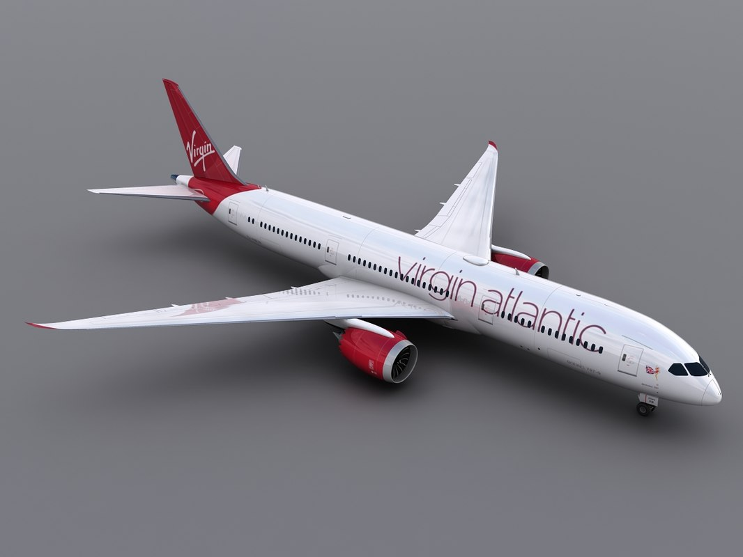 3d model aircraft virgin atlantic