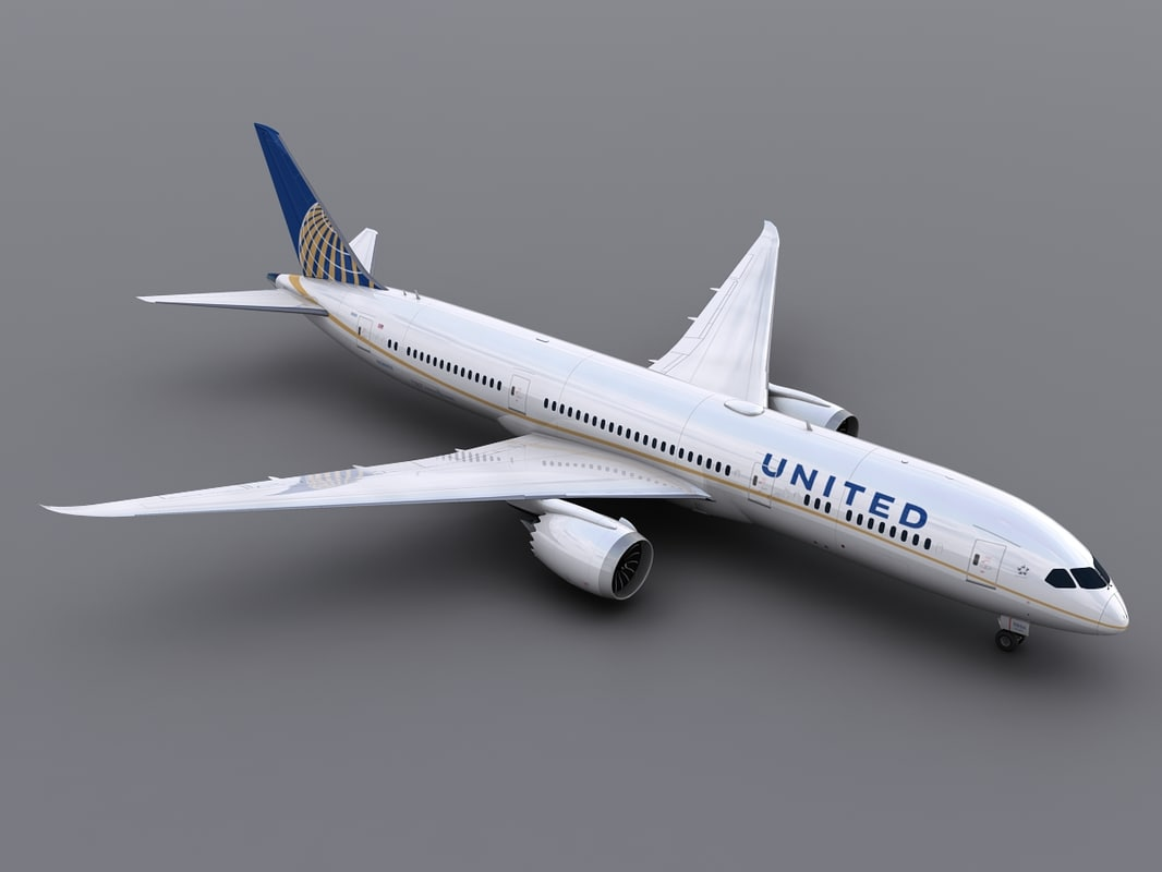 3d model aircraft united