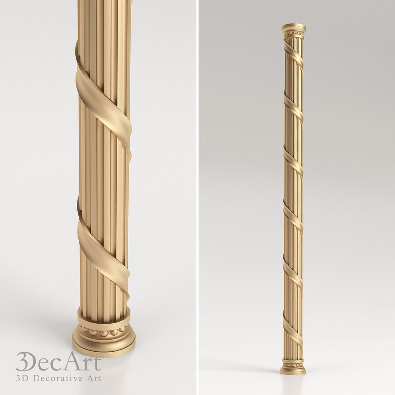 Decorative columns 28 images pair of important italian for Architectural wood columns