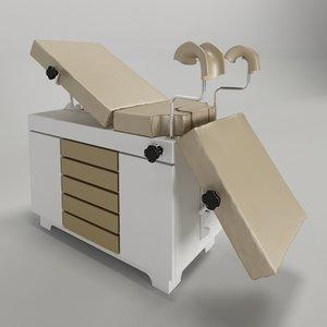 mesa exame ginecologico 3d model
