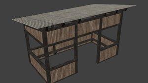 3d summer house model