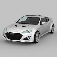 3d max hyundai genesis coupe 2015