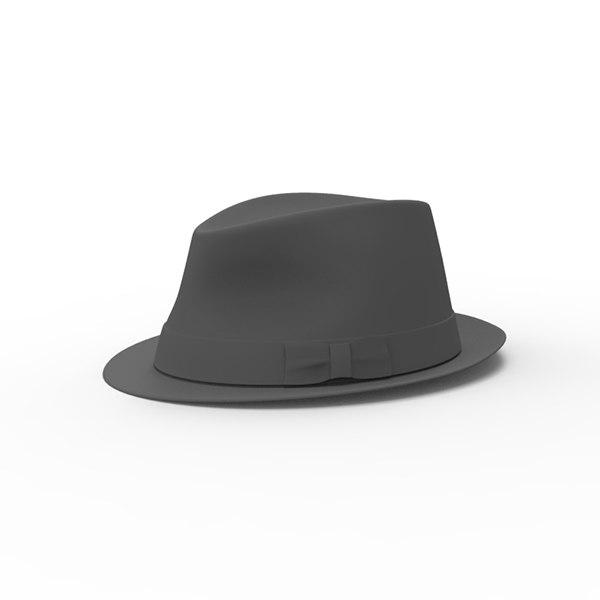 3d hat fedora