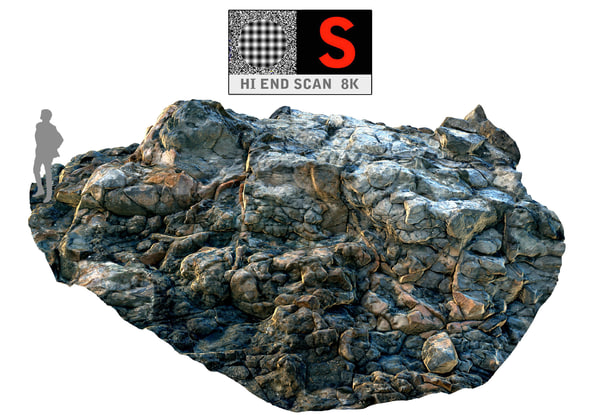 3d model of ocean cliffs hd 8k