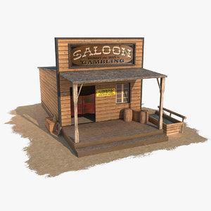 obj wild west saloon