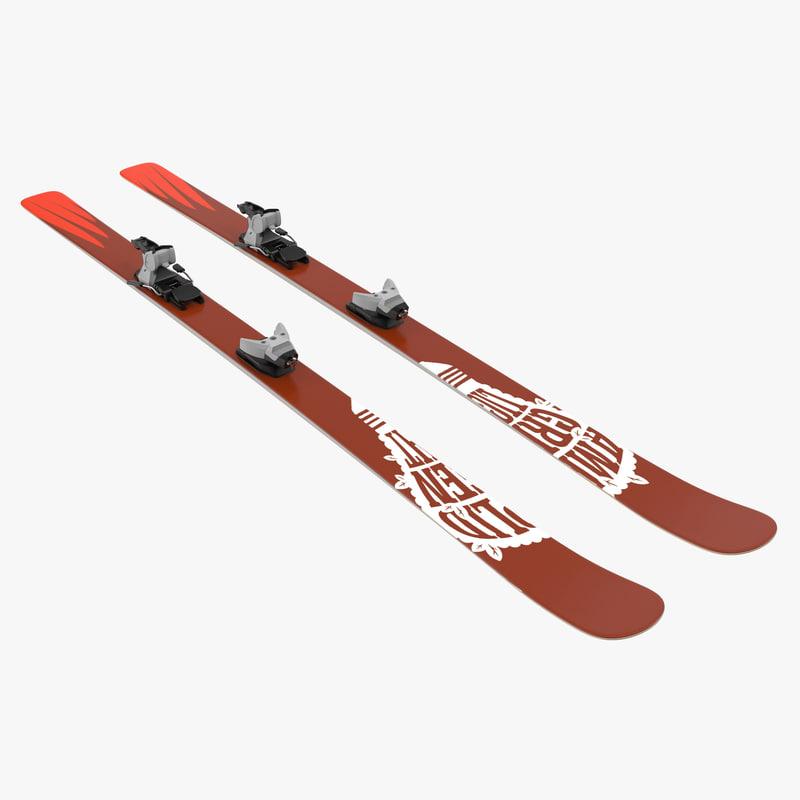 3d model of snow ski 7