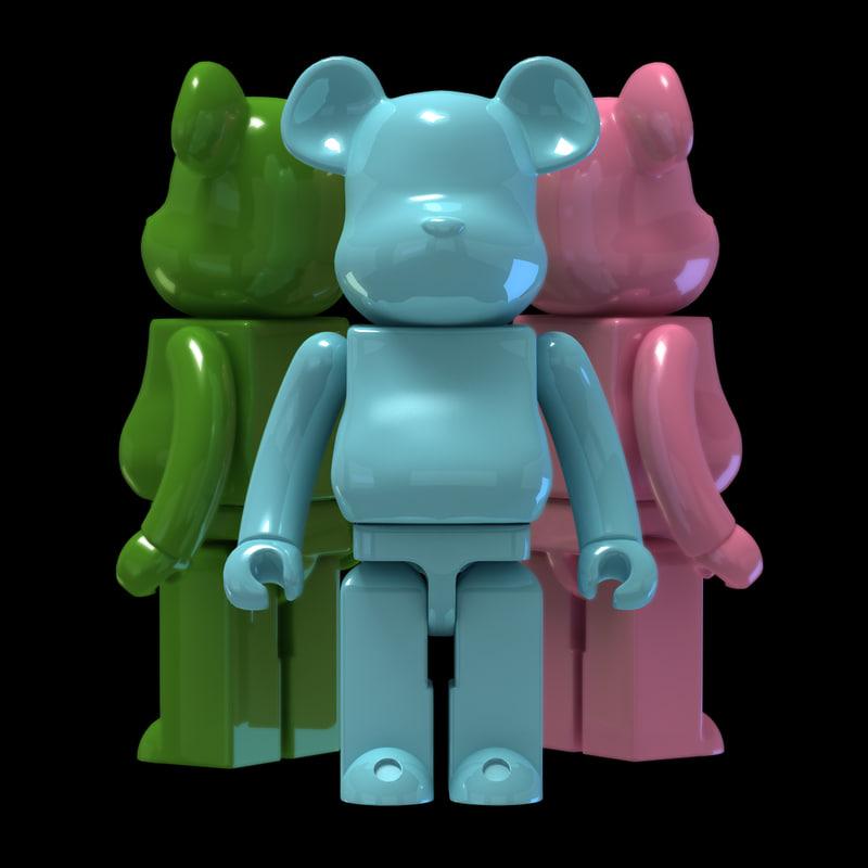 bear brick 3d max