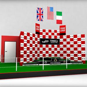 3d formula sport podium