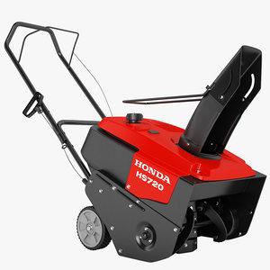 honda hs 720 3d model