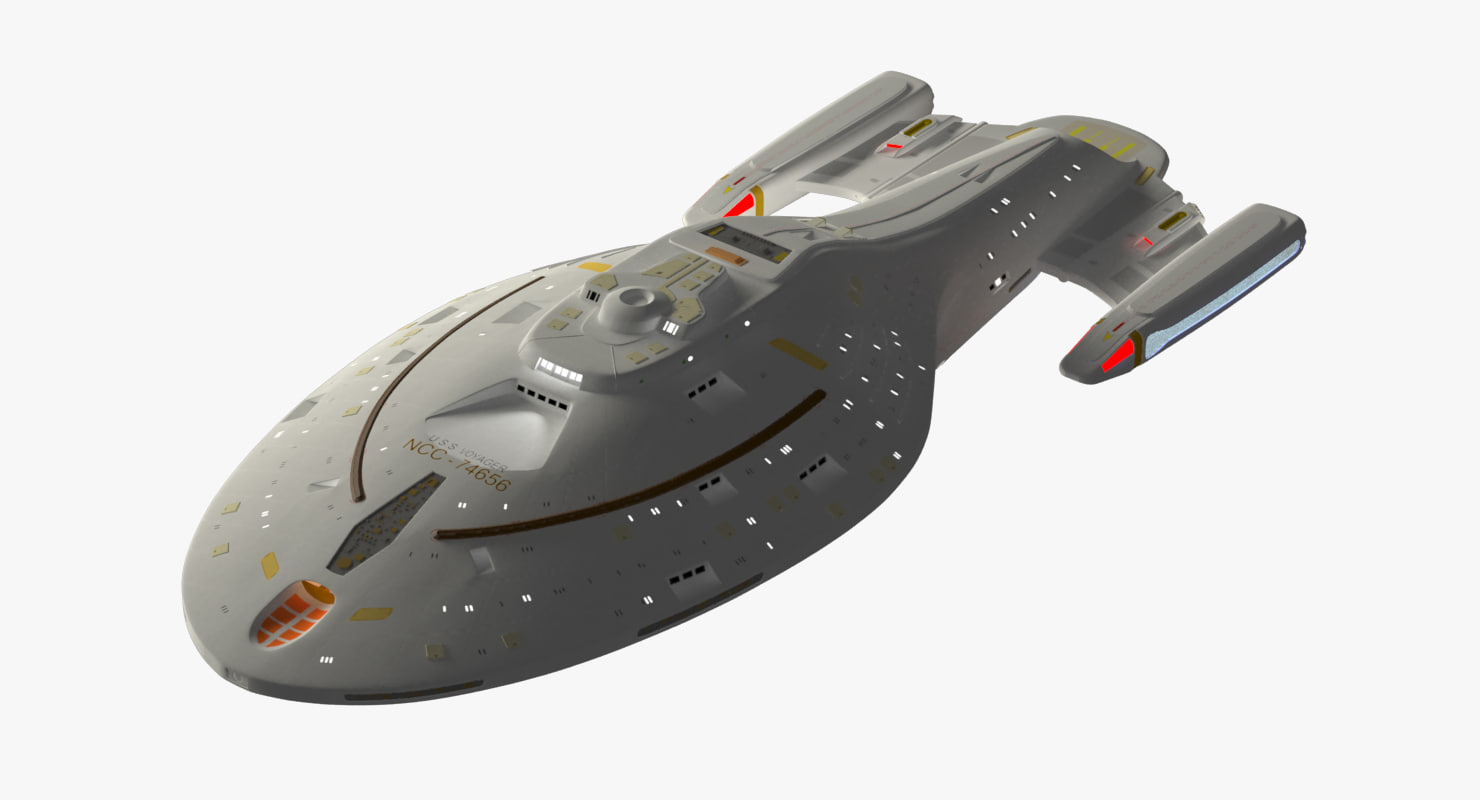 uss voyager 3d max