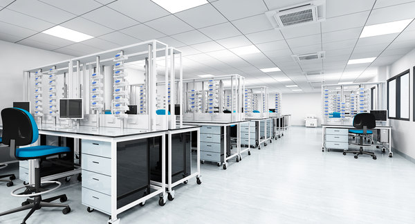 3d model medical laboratory interior