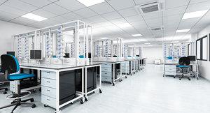 3d model medical laboratory interior