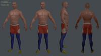 male gymnast ready 3d fbx