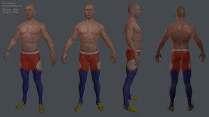 male gymnast ready 3d fbx