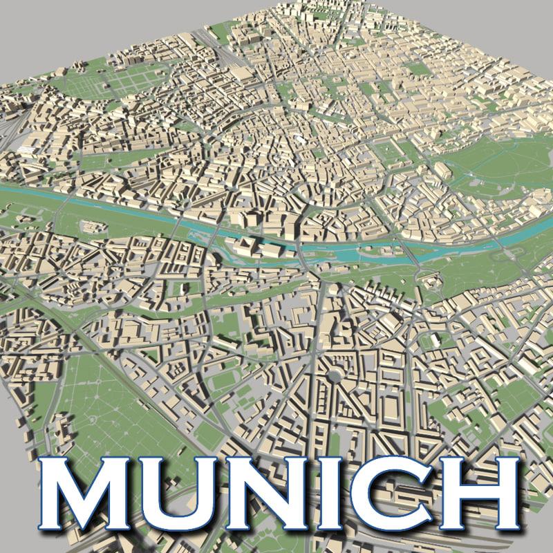 3d model city skyline