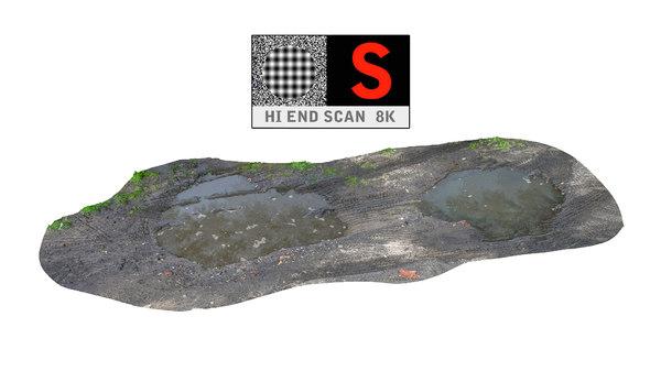 3d model mud puddle hd 8k
