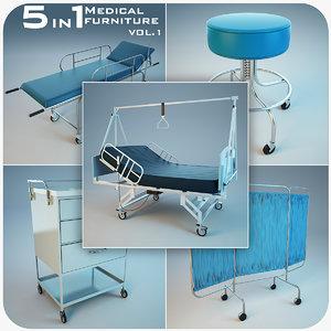 5 1 medical furniture 3d model