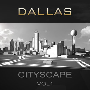 3d dallas city buildings