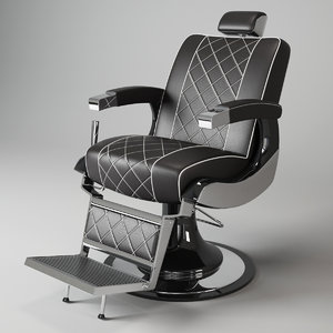 barber chair maletti zeus 3d model