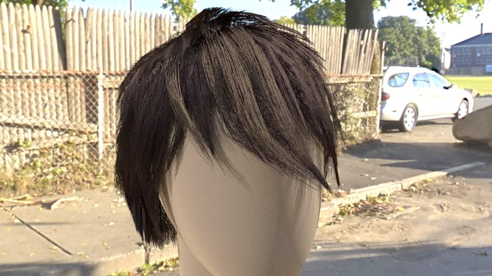 obj fibremesh hair