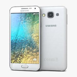3d samsung galaxy e5 white