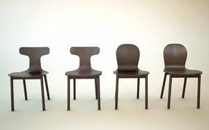 free c4d model chair bac