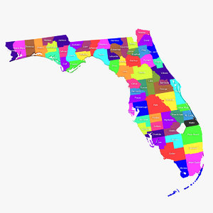 3d florida counties model
