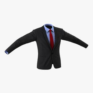 3d suit jacket 10 modeled
