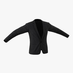 3ds suit jacket 11 modeled