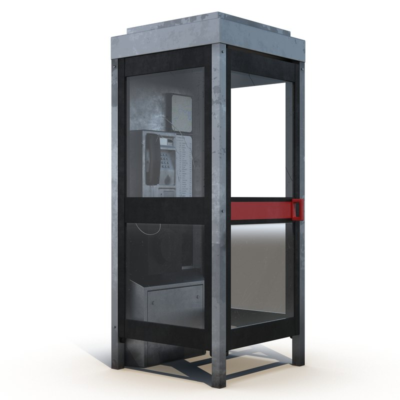 telephone box 2 3d 3ds