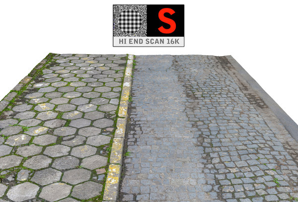 3d sidewalk pavement scanned