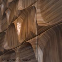 3d model wooden panel