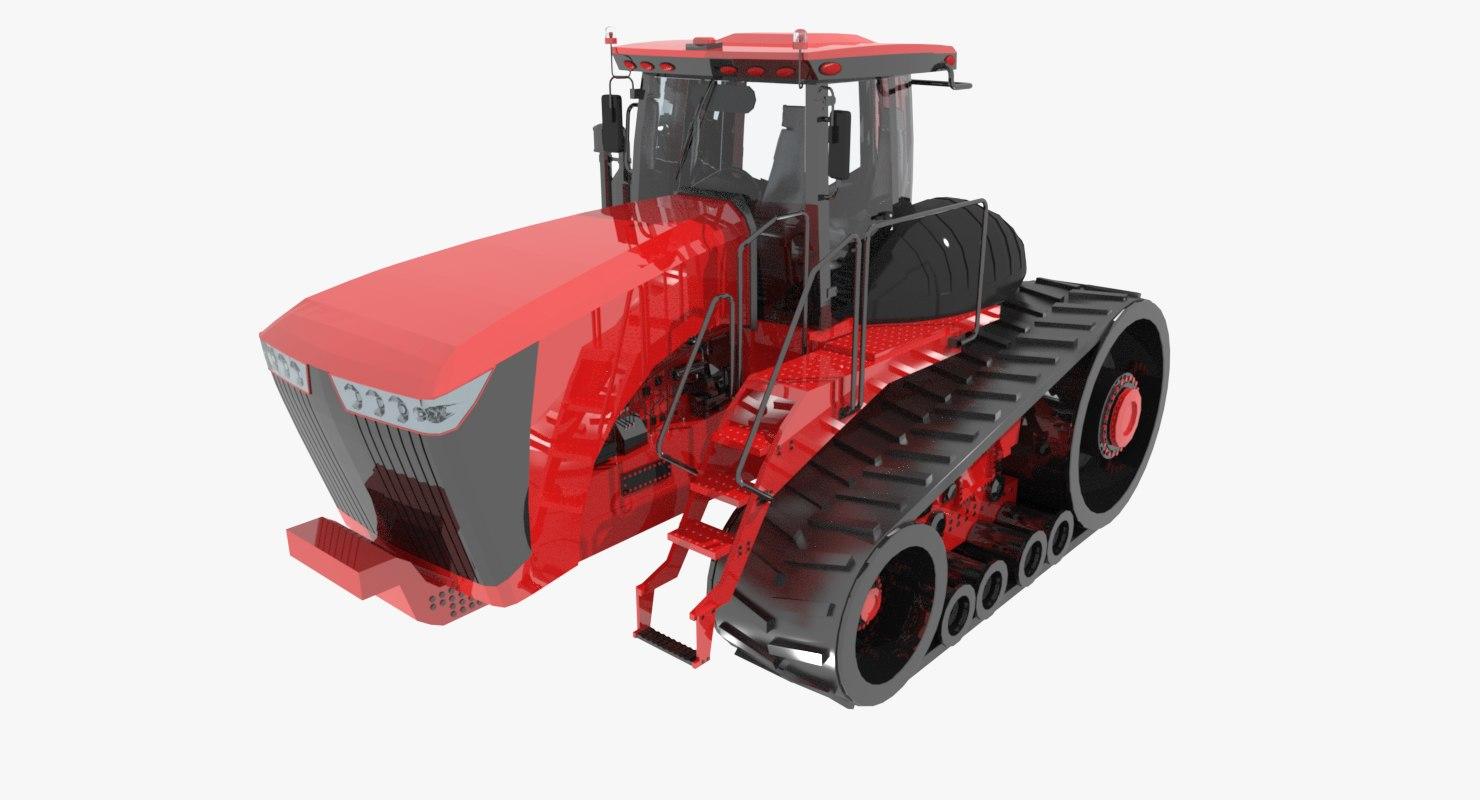 3d model scraper agriculture tractor
