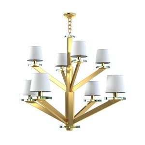 donghia aster chandelier 3d model