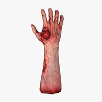 zombie hand 3d max