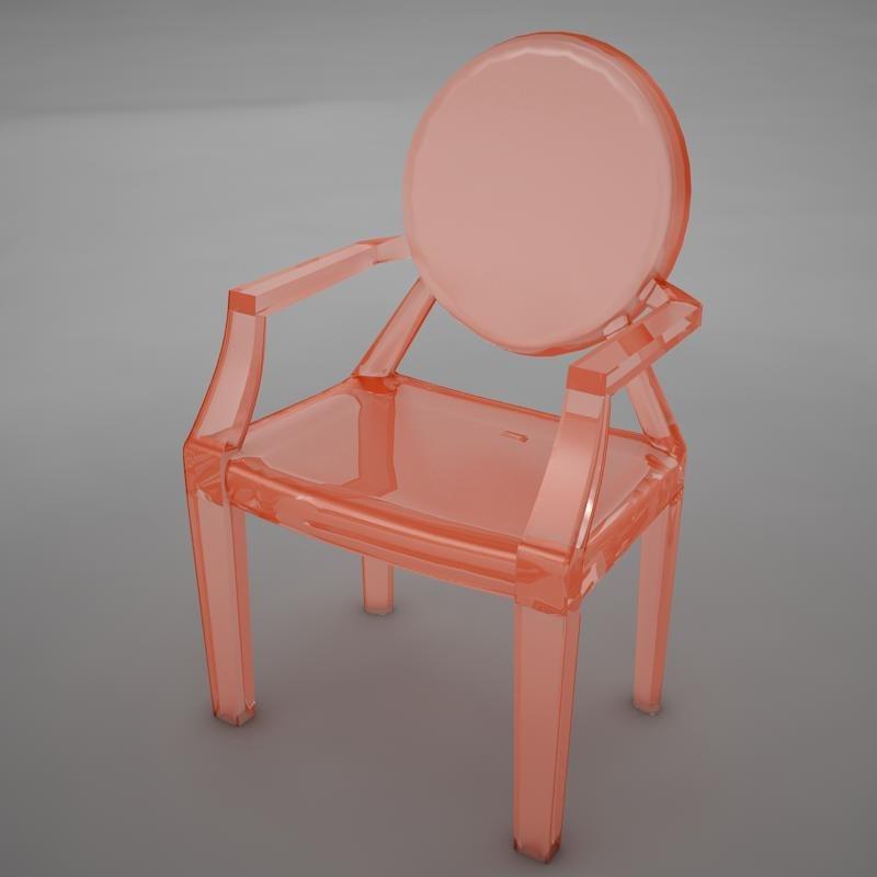 ultra moder plastic club chair 3d model