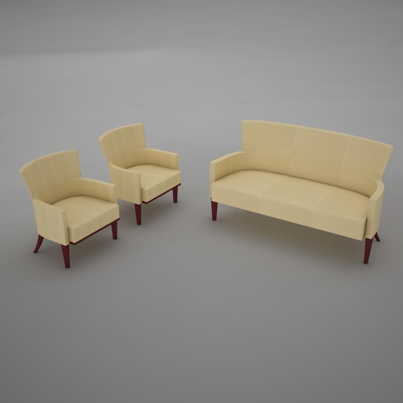 3d sofa living model