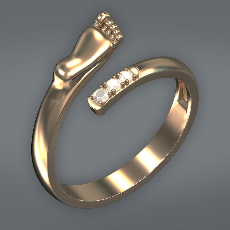 3d model sweet ring
