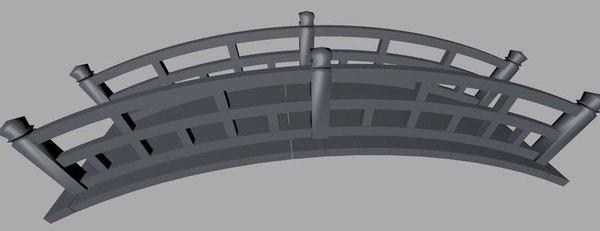 3d foot bridge model