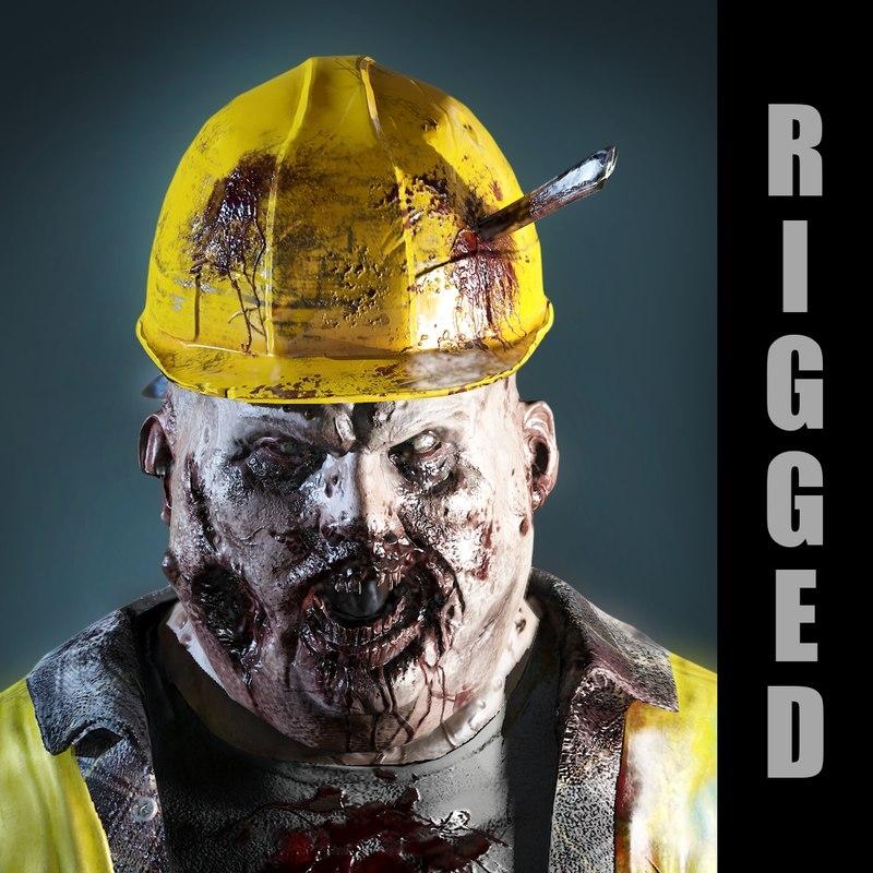 fat zombie 3d max
