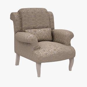 armchair lazzoni 3d model