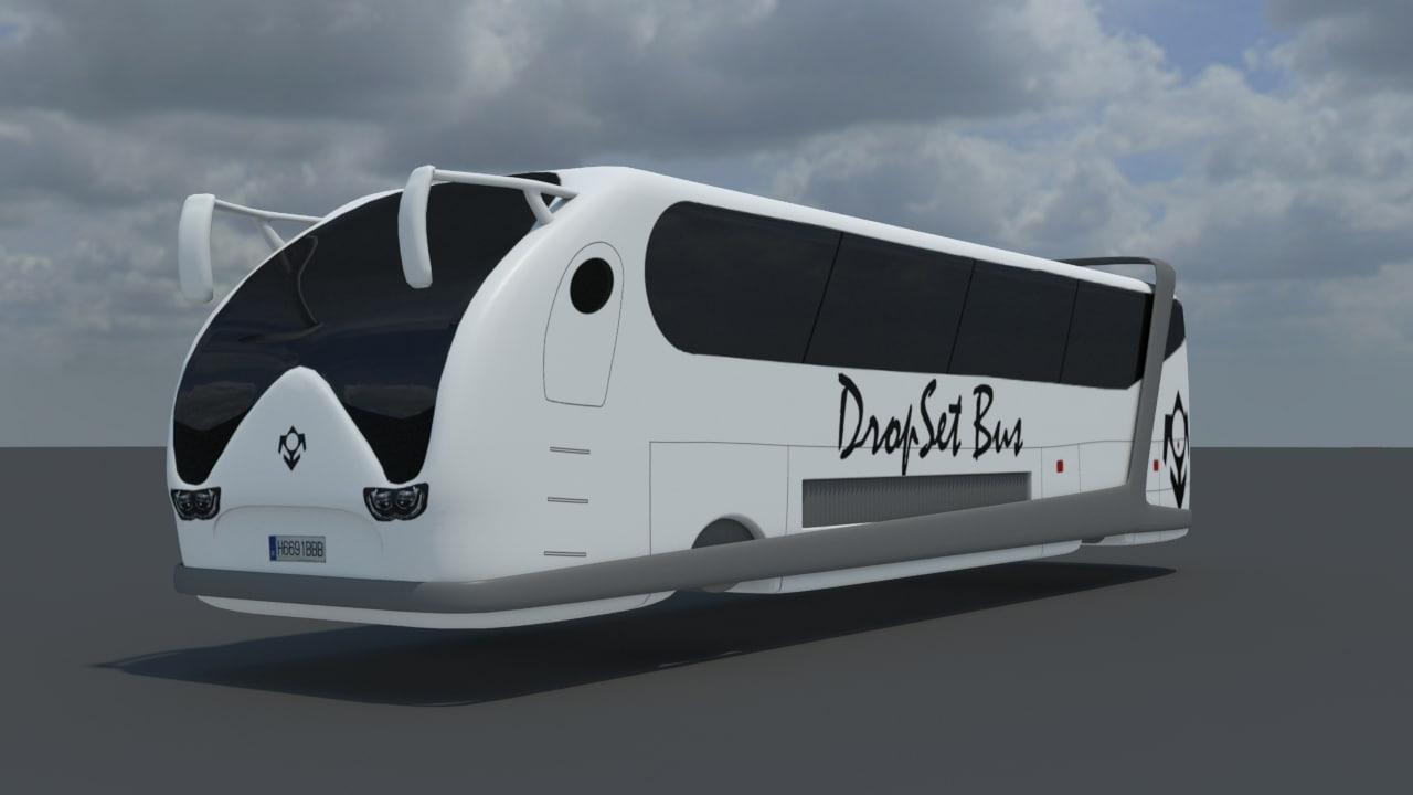 modeled bus 3d model