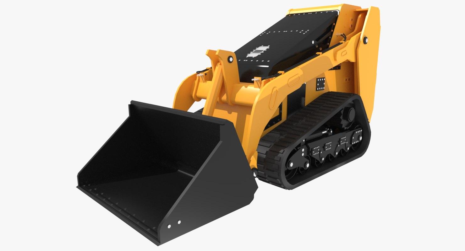 3d model loader tractor tracks bobcat