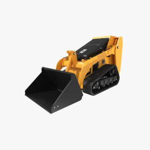 3d model loader tractor tracks bobcat