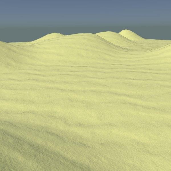 sand sandy terrain 3d blend