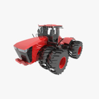 3dsmax scraper agriculture tractor wheeled