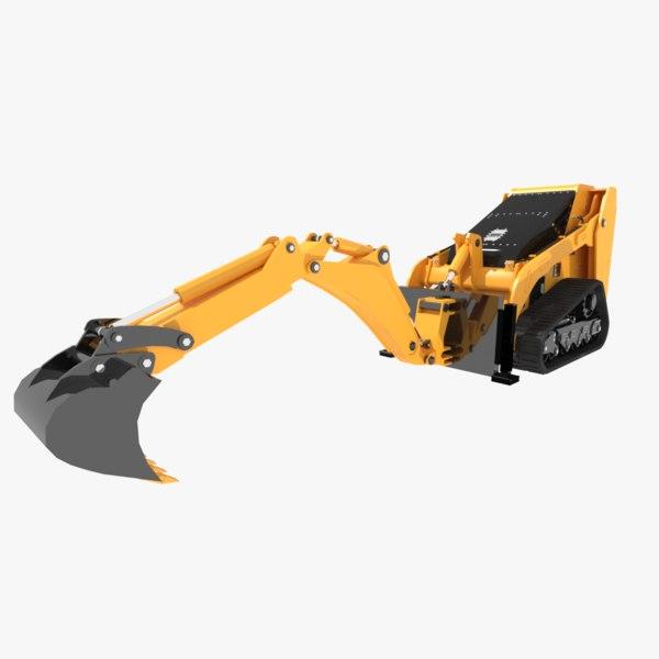 3d model of excavators bobcat mini
