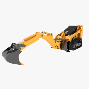 3d model of excavators bobcat mini